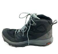 Salomon Women's Hiking Shoes Trail Contagrip Style Gray Black & Teal US Size 6