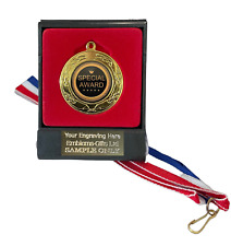 Special Award 40mm Emperor Sports Medal (A) Boxed + Ribbon ENGRAVED FREE