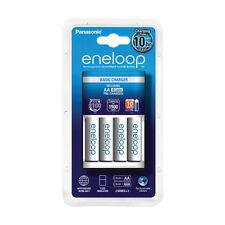 Cargador Panasonic Eneloop BQ-CC51E + 4 baterías Panasonic Eneloop BK-3MCCE AA 1