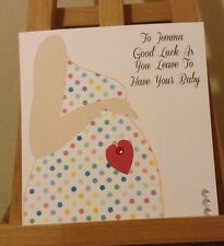 Handmade Personalised Baby Shower / Leaving To Have A Baby Card