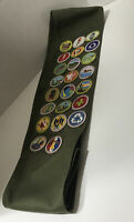 Vtg Michigan Boy Scouts Of America Eagle Scout Sash With 23 Patches BSA Badges