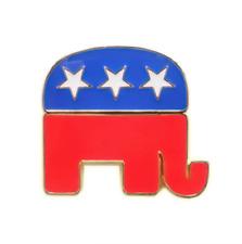 Hat Tie Tack Badge Pin Republican Elephant Lapel Pin 28mm