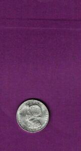 1953 PANAMA MEDIO (1/2) BALBOA UNCIRCULATED SILVER COIN