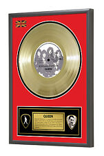 Queen Bohemian Rhapsody Freddie Mercury Framed Gold Disc Display Vinyl (45rpm)