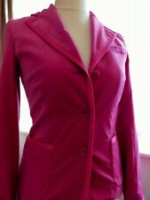 Whistles Womens  Pink Velvet jacket Blazer and Trouser Co-Ord Suit Size 10/36