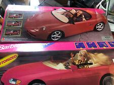 Barbie PORSCHE BOXSTER Sports CAR with MOTORIZED Convertible TOP + Cruisin' Car