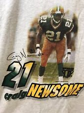 VTG Green Bay Packers Craig Newsome football Gray T Shirt Youth L 14-16 Men's S