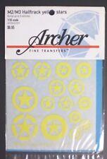 Archer Fine Transfers 1/35 Scale M2/M3 Halftrack Yellow Stars Item No. 35225y