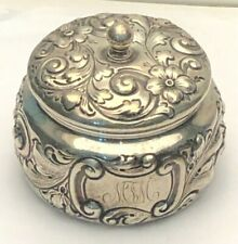 Antique Gorham  Sterling Silver Powder/ Dresser Jar, Beautiful Antique