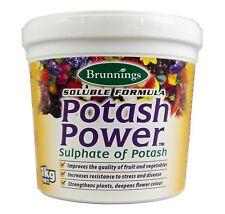 Potash Power Fertiliser -1kg Brunnings Potassium Fertilizer Sulphate of Potash