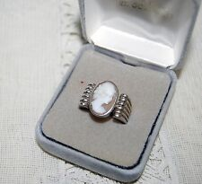 Antique Beautiful Heavy Sterling Silver Unisex Cameo Ring  Size - 10 1/4