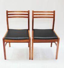 Pair of Retro Danish Style Teak Dining Chairs [ 5852 ]