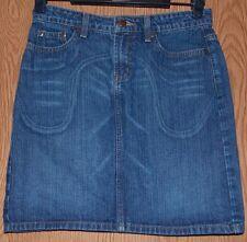Womens Short Prefaded Denim Mossimo Skirt Size 2 excellent