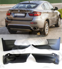 BMW X6 E71 2008-2014 FRONT and REAR Bumper ELERONS 4pcs, M Sport Performance FRP