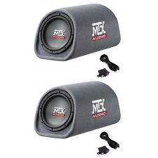 "MTX AUDIO 8"" 240W Car Loaded Subwoofer Enclosure Amplified Tube Vented (2 Pack)"