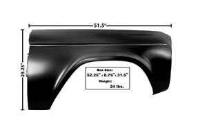 1966-77 Ford Bronco Fender - RH New Dii