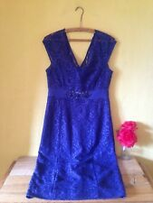 Monsoon New size 12 blue vintage 50's look floral lace beaded gem wedding dress