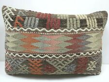 "Anatolia Kilim Lumbar Pillow Cover Long Rug Pillow 20""x14"" Cushion Throw Pillow"