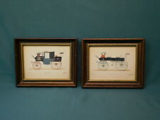 pair vintage automobile framed art Le Guide du Carrossier Coup Muel Break