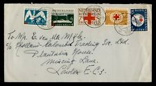 DR WHO SEMIPOSTALS 1957 NETHERLANDS MIDDELBURG TO ENGLAND C242635