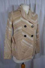 DIANE VON FURSTENBERG beige and ivory gold sparkly lurex knit cardigan size S/M