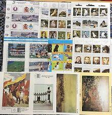 SELLOS ARGENTINA Y VENEZUELA --HOJAS BLOQUE--