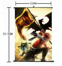 Hot Japan Anime Fairy Tail Natsu Dragneel Home Decor Poster Wall Scroll 21*30cm