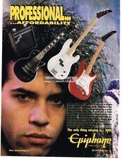 1991 Epiphone Electric Guitars John Ricco Warrior Soul  Magazine Ad