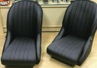 Pair BB Vintage Classic Car/kit/Vintage Bucket sports Seats / Low Rounded backs