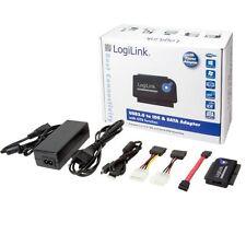 """LogiLink au0006c usb 2.0 vers ide sata Adaptateur avec OTB pour 2.5"""" 3.5"""" 5.25"""""""