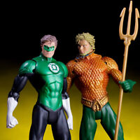 2pcs/set DC Hero Justice League The Aquaman Green Lantern Action Figure PVC Toy