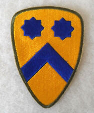 ORIGINAL SHORT LIVED WWII BLACK TROOPS  2ND CAVALRY DIV/ OD BORDER COTTON C.E.