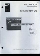 Copy Fender ROC PRO 1000 1x12 Combo Guitar Amplifier Parts List & Schematic(s)