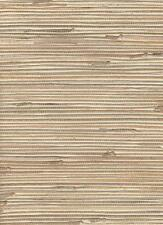 Wallpaper Real Natural Grasscloth Textured Sisal Tan Beige on Antique White