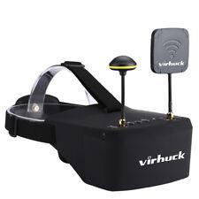 "5"" LCD FPV VR Goggles Brille für RC Drohne Empfänger w/DVR 128GB 5.8GHz 2*Module"