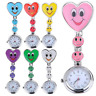 Fashion Heart Shape Smile Face Nurse Fob Brooch Pendant Cute Pocket Watch