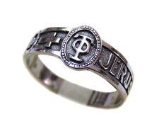 Ring JERUSALEM Τάφος θεοῦ in Oval #105 sterling silver 925 size 6-14