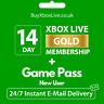 XBOX LIVE 14 Day GOLD + Game Pass (Ultimate) Trial Code INSTANT - NEW USER ONLY