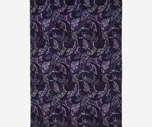 Vera Bradley Factory Style Throw Blanket Paisley Amethyst