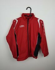 WOMENS/YOUTHS VTG RED UMBRO ATHLETIC SPORTS ZIP-UP TRACKSUIT TOP JACKET UK 6