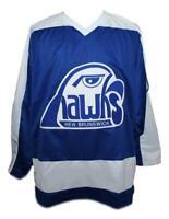 Any Name Number Size New Brunswick Hawks Custom Hockey Jersey
