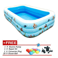 (L)262x(W)175x(H)60cm - Inflatable 3 Rings Swimming Pool