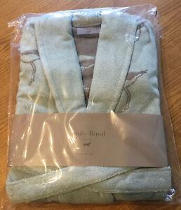 BNIP - Emily Bond Bath Robe / Dressing Gown Oyster Eatcher Green (Size: S/M)