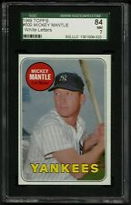 1969 TOPPS #500 MICKEY MANTLE WHITE LETTER SGC 84 NM 7 HOF YANKEES WL RARE