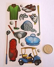 NO 023 SCRAPBOOKING - GOLF STICKERS  - Scrapbooking or Card Making