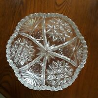 Two Vintage Lead Crystal Cut Glass Nut Dish or Candy Dishes