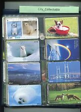 JAPAN USED PHONE CARDS * 8 PCS ANIMALS # JP46