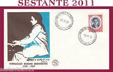 ITALIA FDC FILAGRANO FERRUCCIO BUSONI BENVENUTO 1975 ANNULLO EMPOLI C57