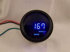 """2"""" Digital Tachometer Gauge Black with Cobalt Blue LED"""