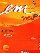 Hueber EM NEU 2008 Hauptkurs KURSBUCH+ARBEITSBUCH Lektion 6-10 mit Lerner-CD NEW
